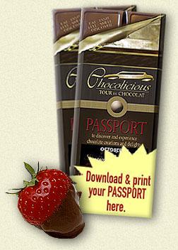 Toronto Chocolicious passport, chocolate coupons